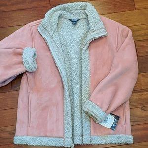Woolrich Blush Pink Vegan FLEECE Lined Coat Med